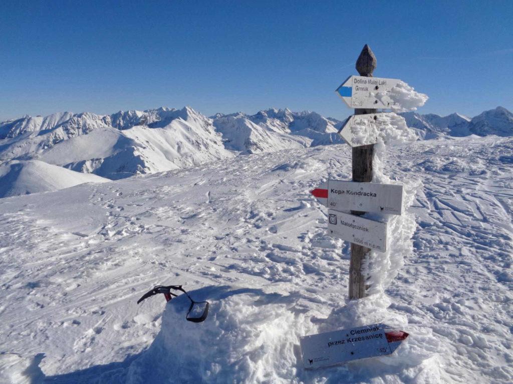 Małołączniak, panorama ze szczytu