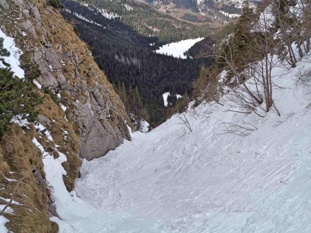 Zejście z Kondrackiej Przełęczy