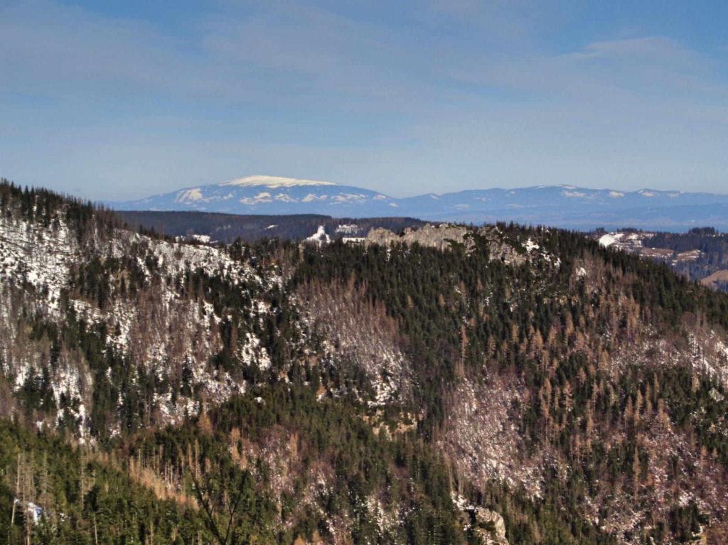 Ścieżka pod Reglami, widok na Babią Górę