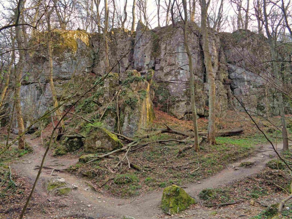 Las Wolski, Panieńskie Skały