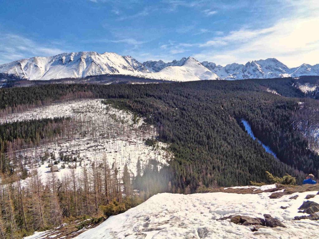 Wielki Kopieniec - widok na Tatry Wysokie
