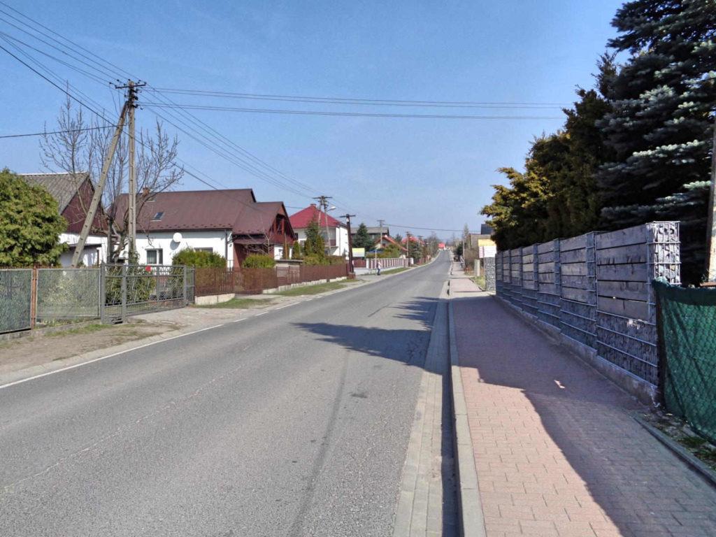 Objazd przez miejscowość Kamień