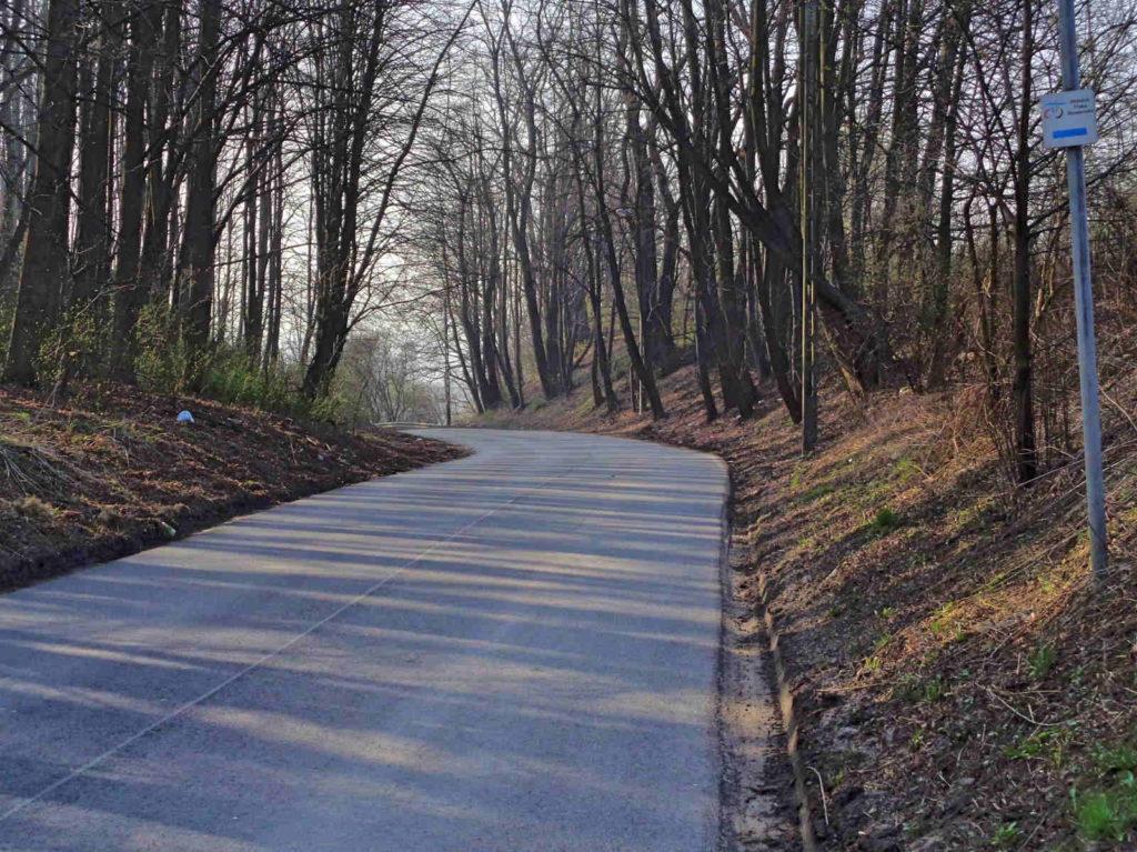 WTR w Tyńcu, droga na Skawinę