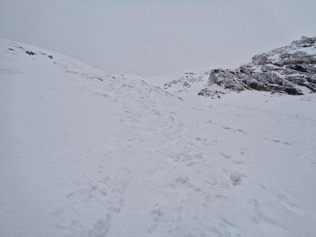 Zadni Granat, zimowe podejście