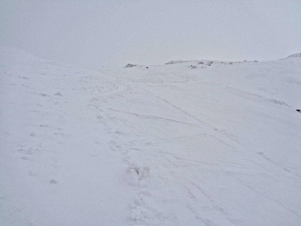 Zadni Granat, szlak zimowy