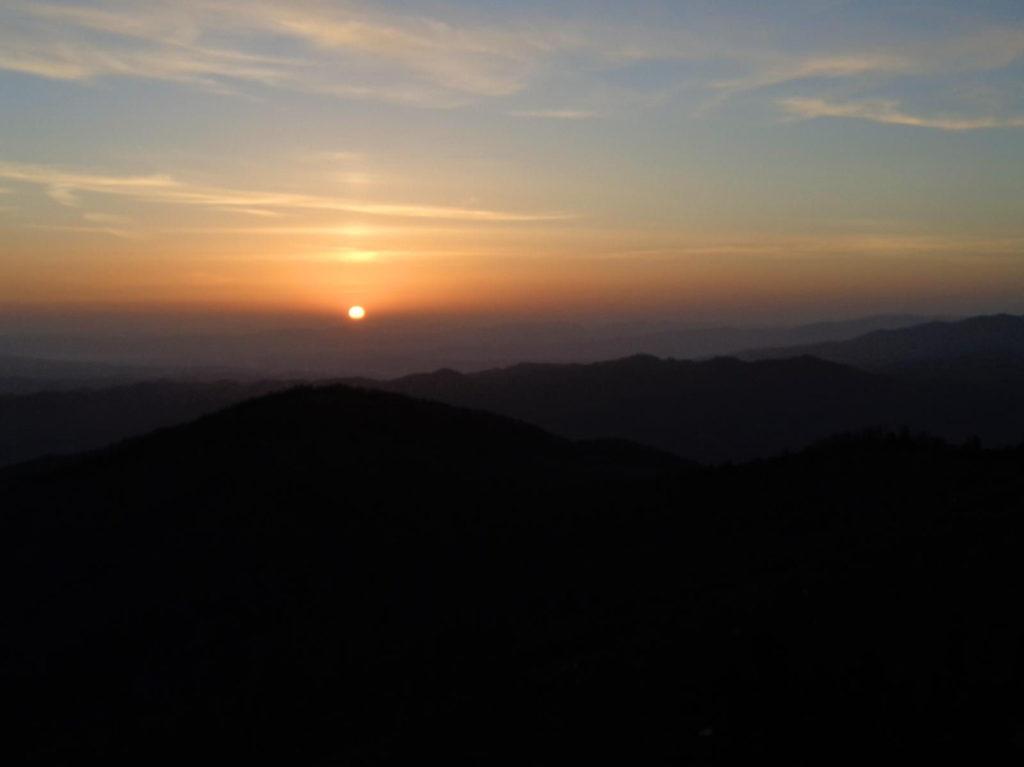 Lubań - wschód słońca
