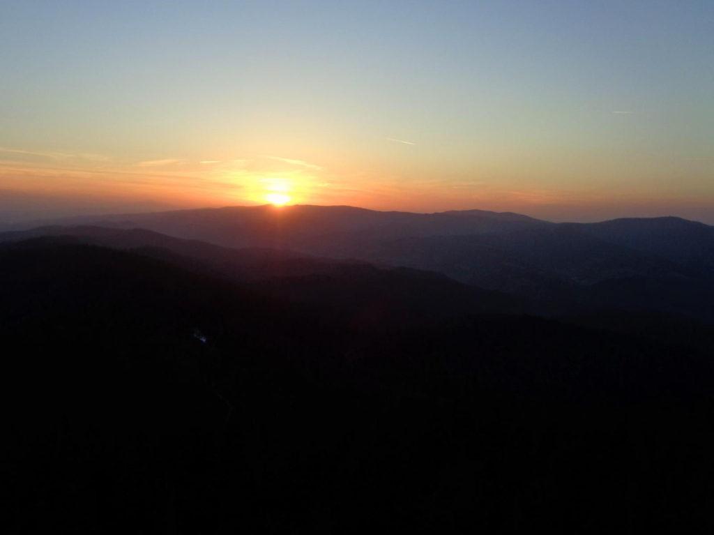 Lubań - zachód słońca