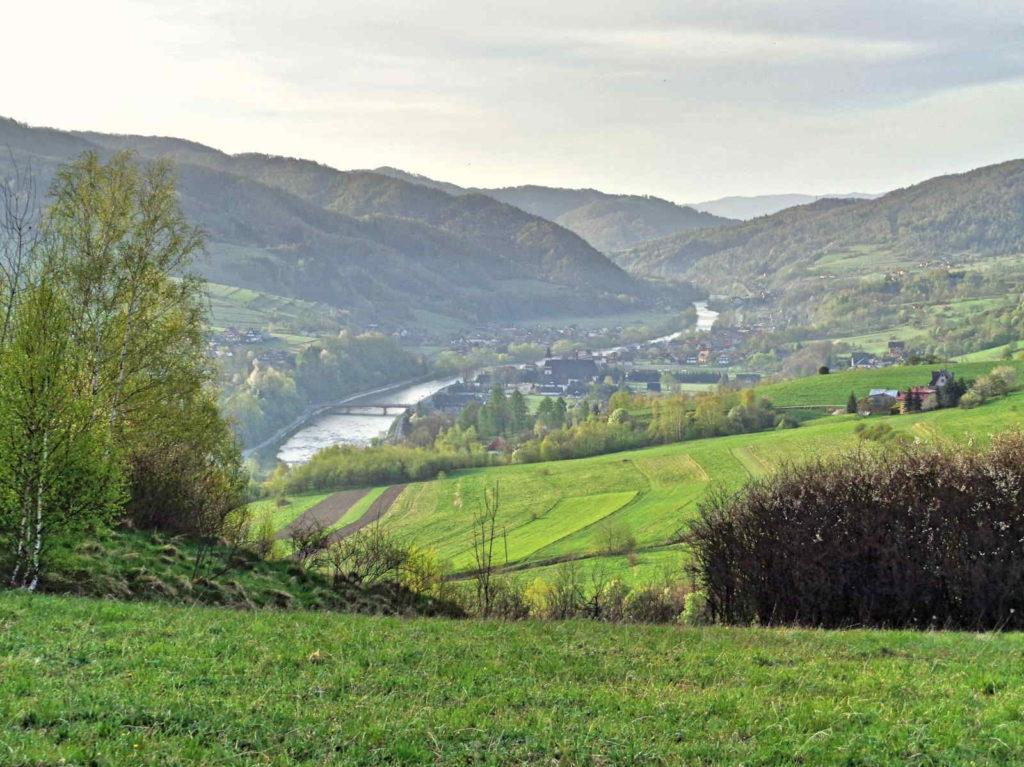 Dunajec widziany z zielonego szlaku
