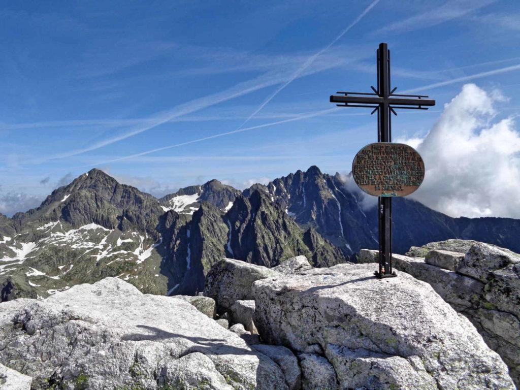 Sławkowski Szczyt - krzyż na szczycie