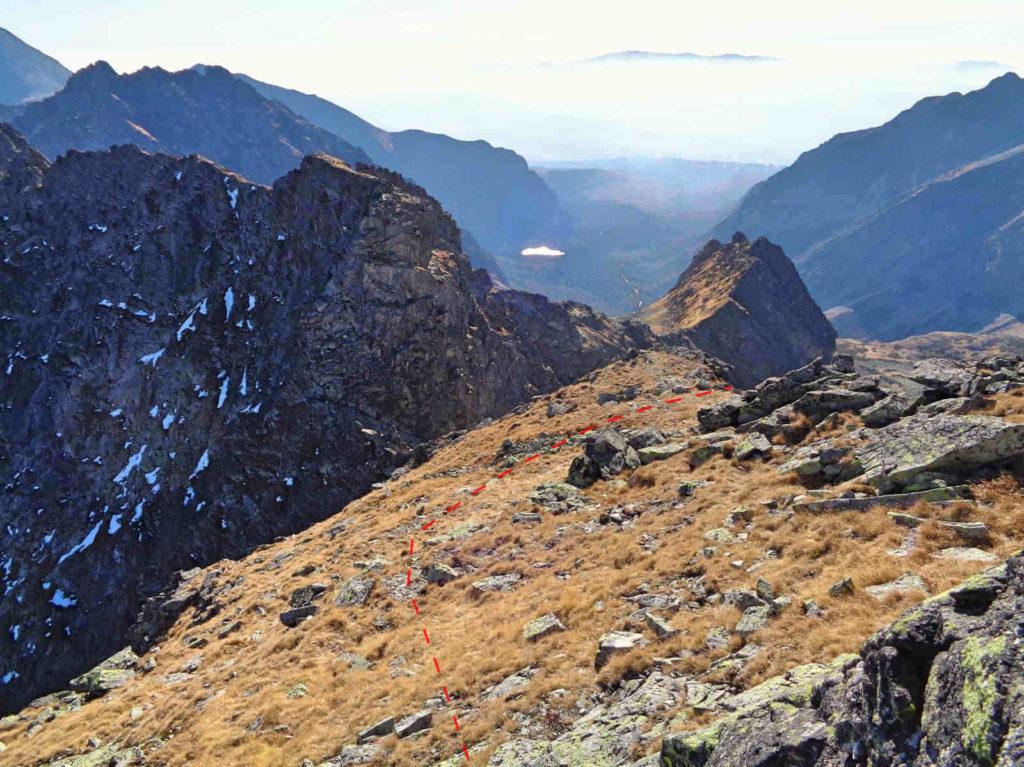 Czarnostawiańska Przełęcz od Czarnego Mięgusza