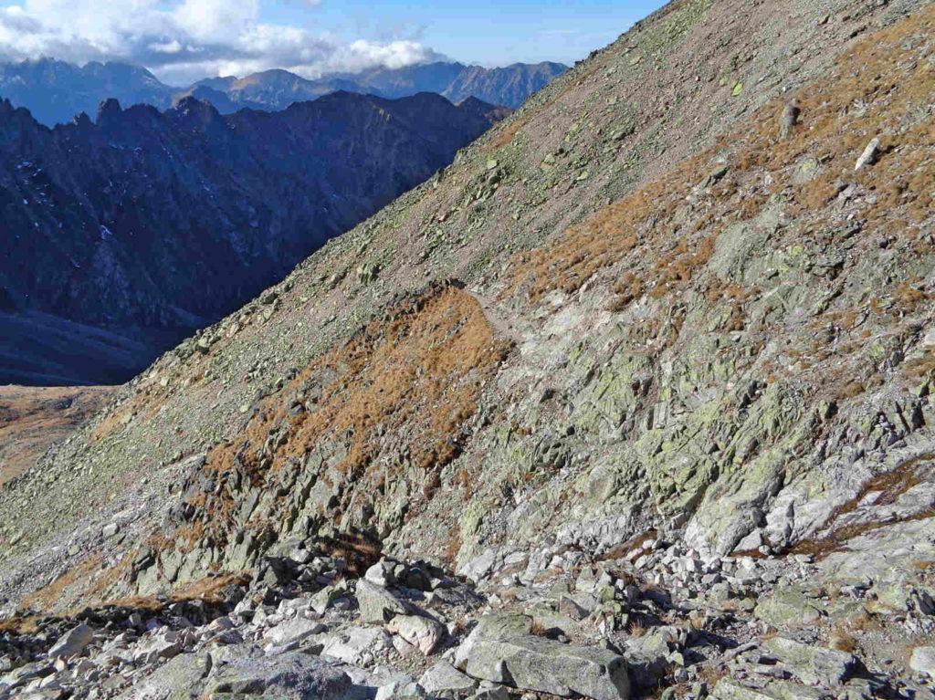 Zejście z Lodowej Przełęczy
