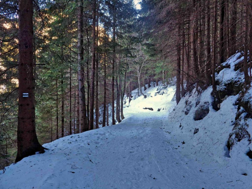 Kasprowy Wierch, zielony szlak zimą