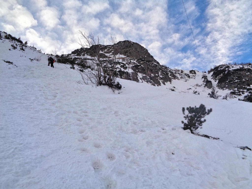 Dolina Pięciu Stawów, podejście zimowe