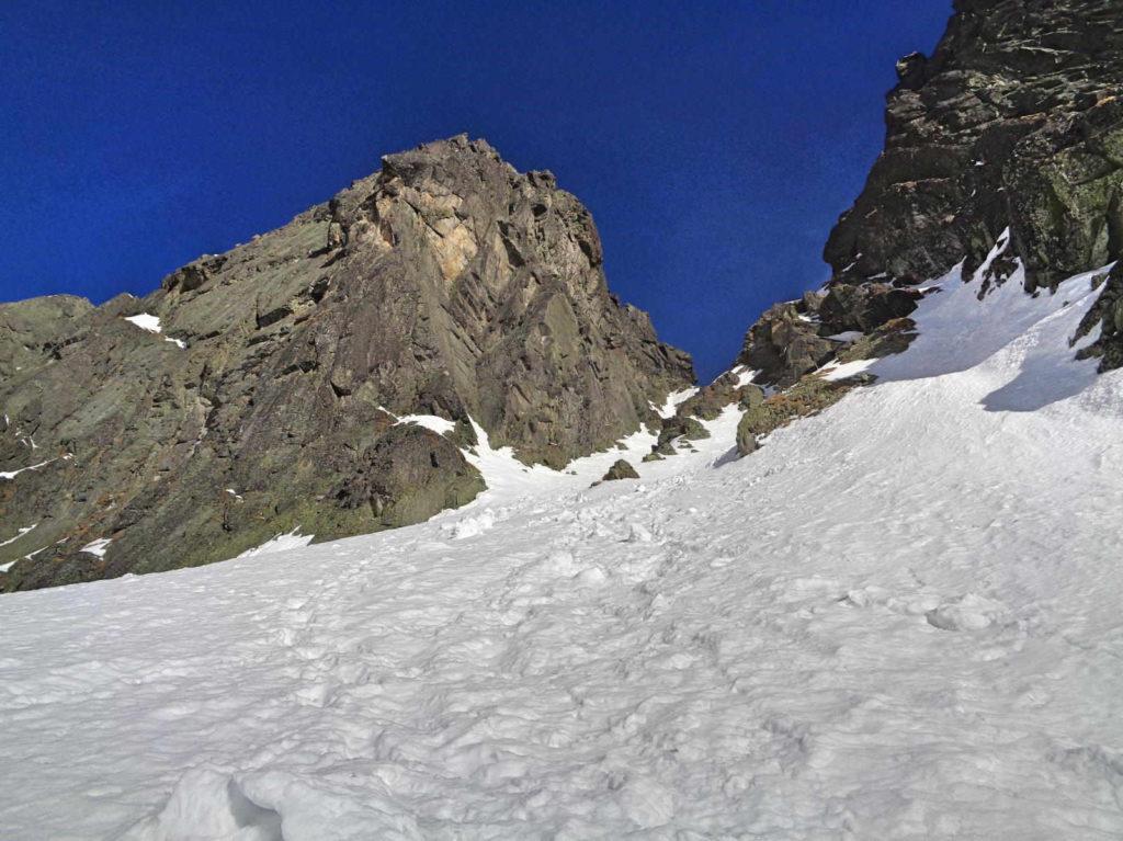 Kozia Przełęcz, podejście zimowe