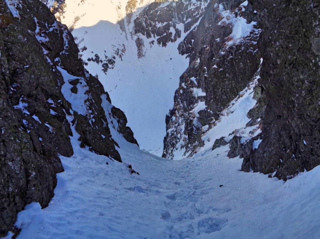 Kozia Przełęcz, wejście w zimie
