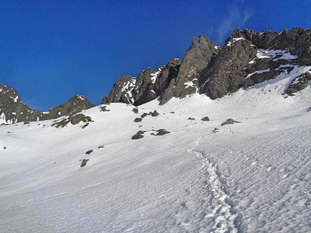 Pusta Dolinka, szlak zimowy
