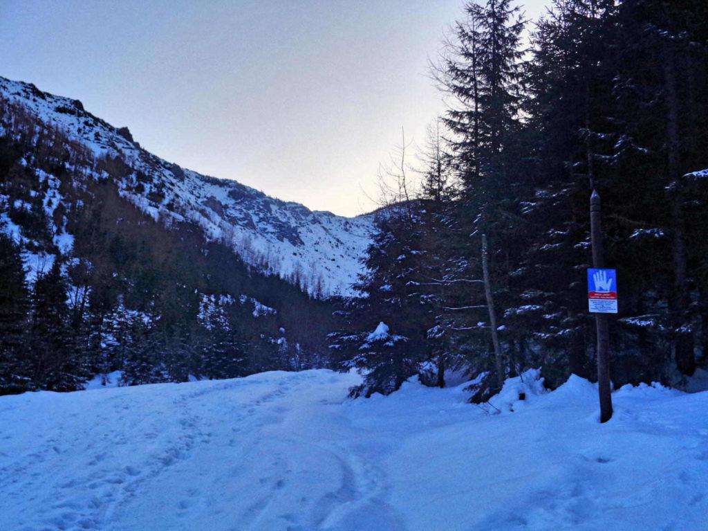 Dolina Jaworzynka zimą