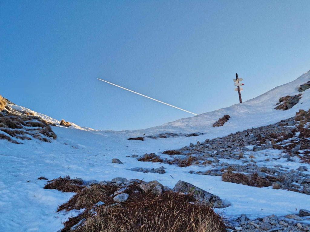 Przełęcz Krzyżne zimą