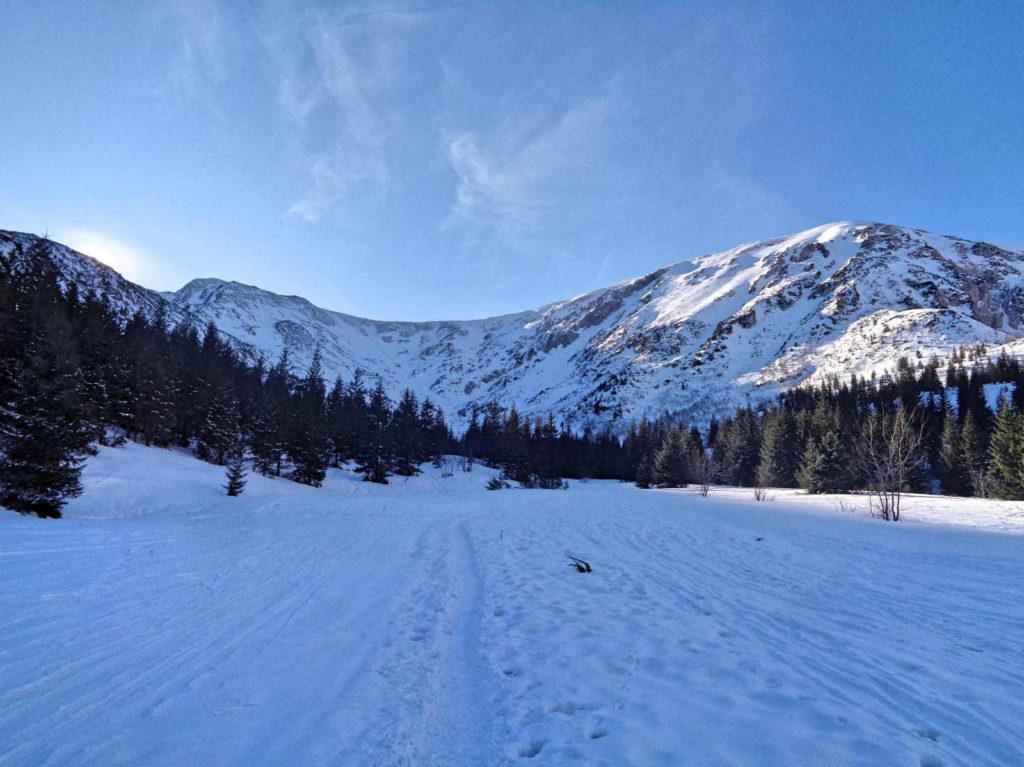 Przełęcz pod Kopą Kondracką, szlak zimowy