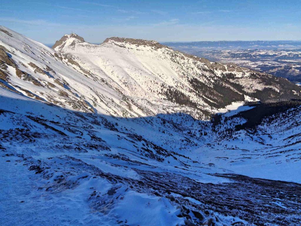 Przełęcz pod Kopą Kondracką w zimie