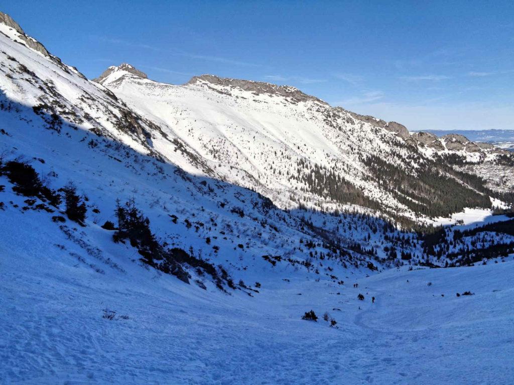Przełęcz pod Kopą Kondracką, zejście