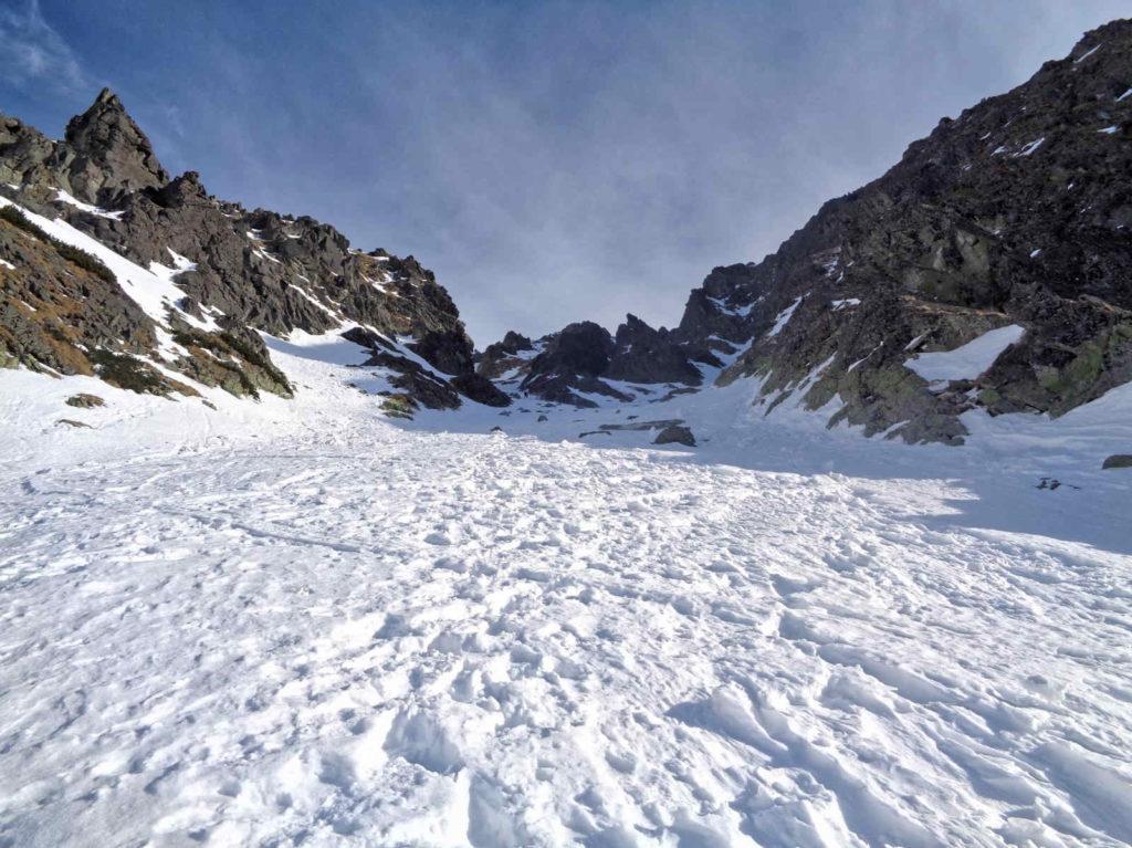 Skrajny Granat, podejście zimowe
