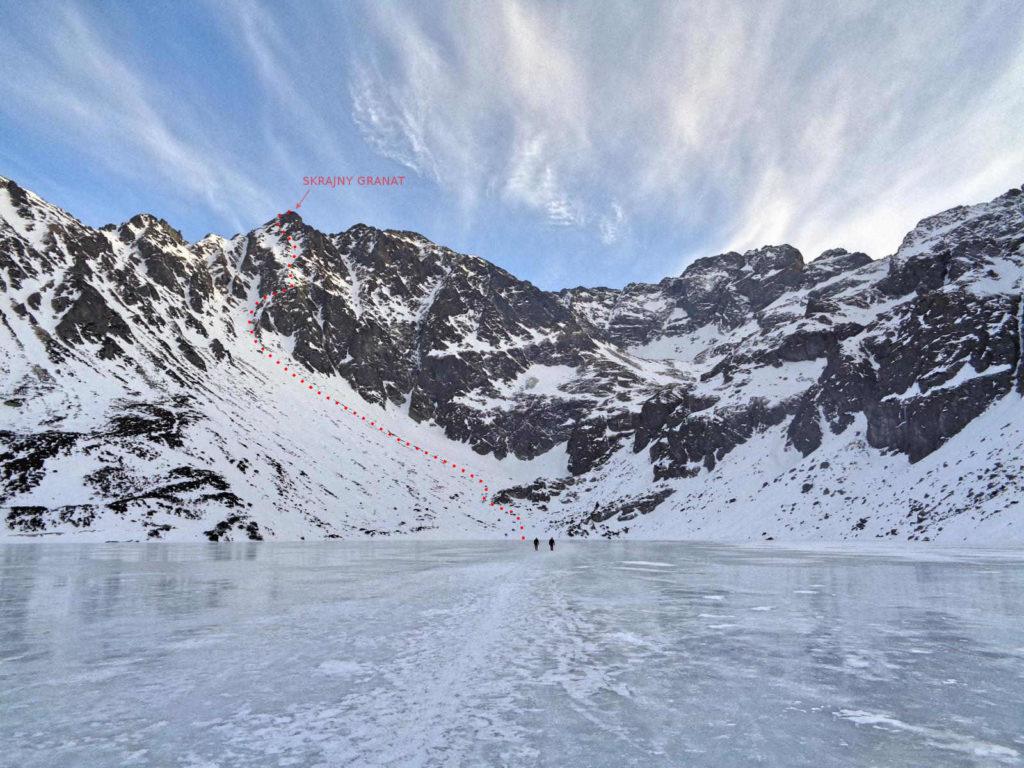 Skrajny Granat, szlak zimowy