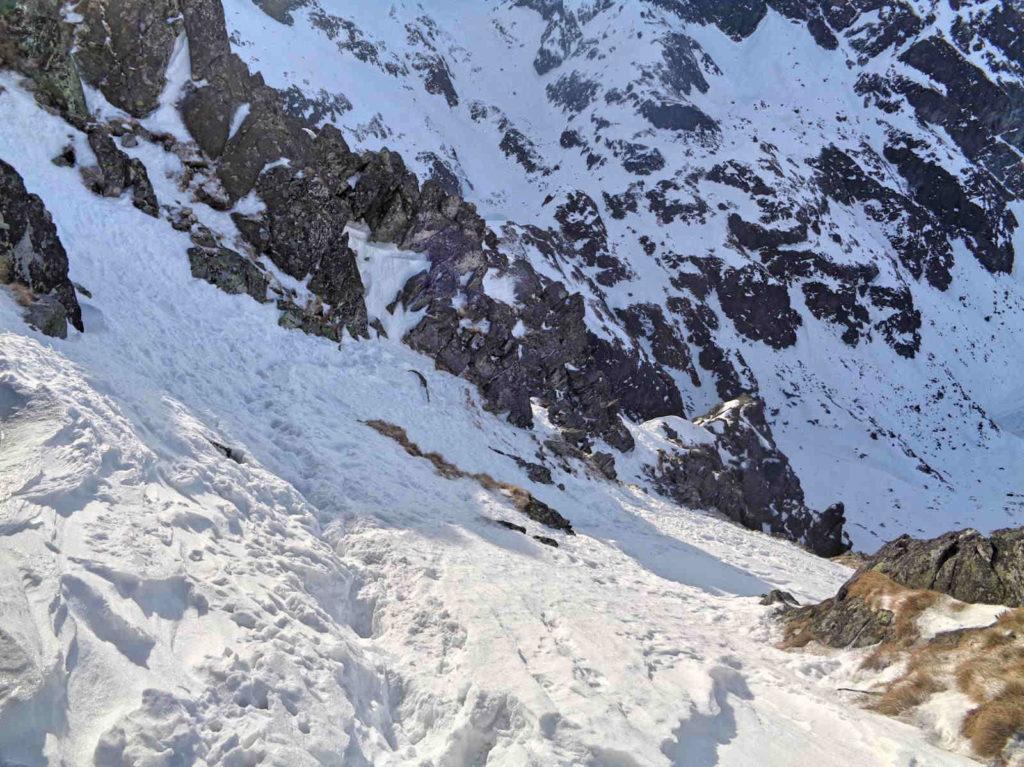 Skrajny Granat, trudności w zimie