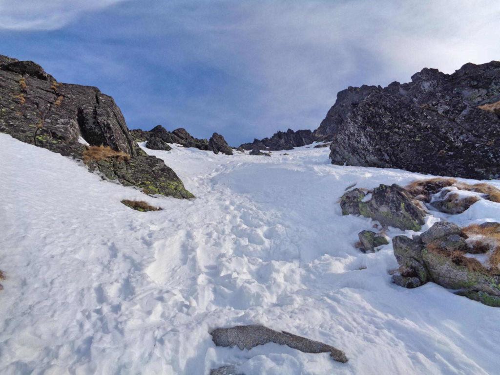 Skrajny Granat, wejście w zimie