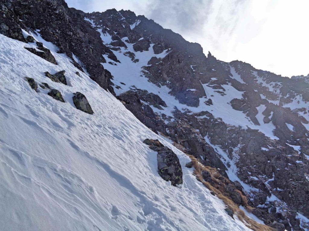 Skrajny Granat, wejście zimowe