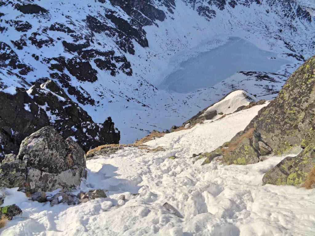 Skrajny Granat, zejście nad Czarny Staw