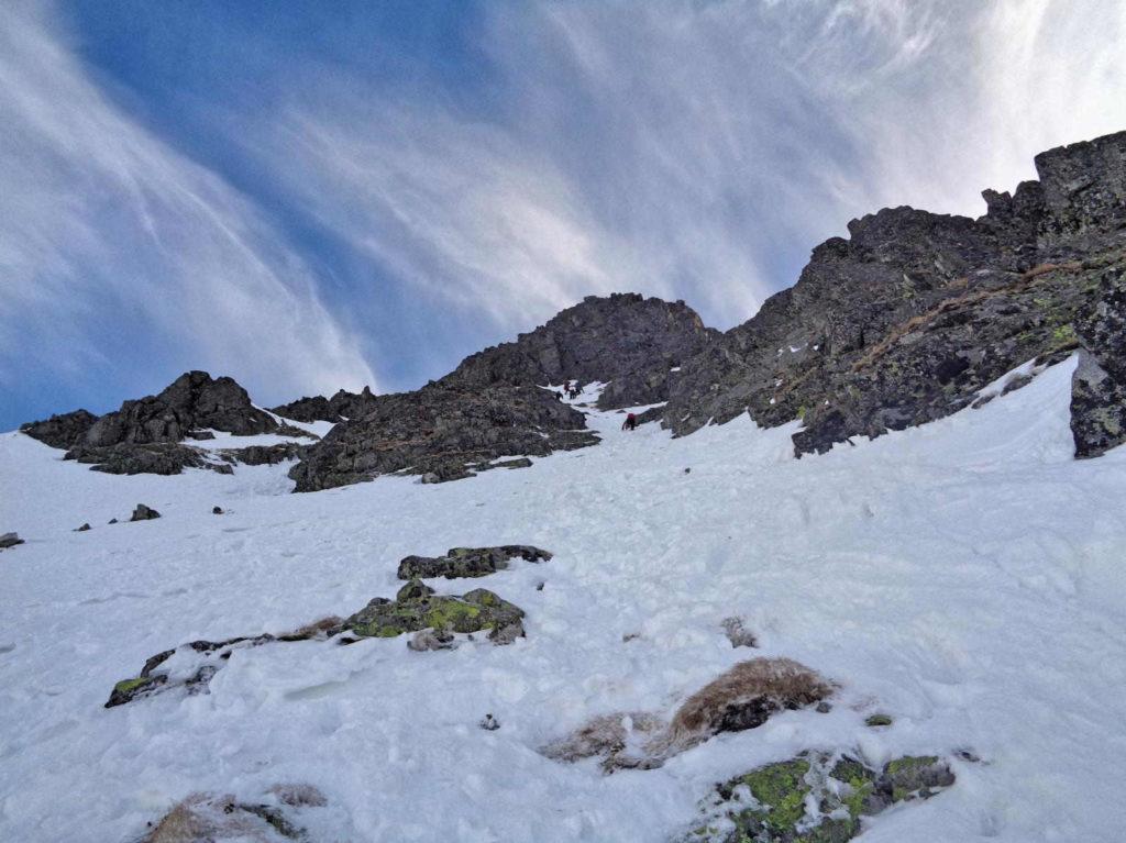 Skrajny Granat zimą, trudności