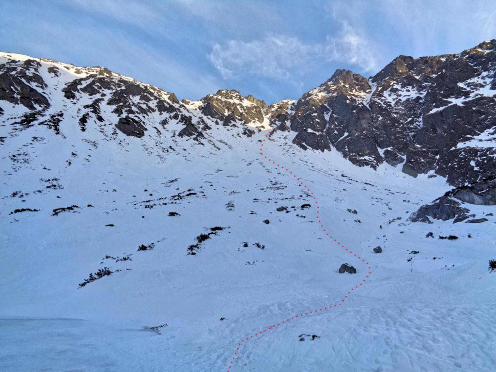 Skrajny Granat, zimowa wersja szlaku