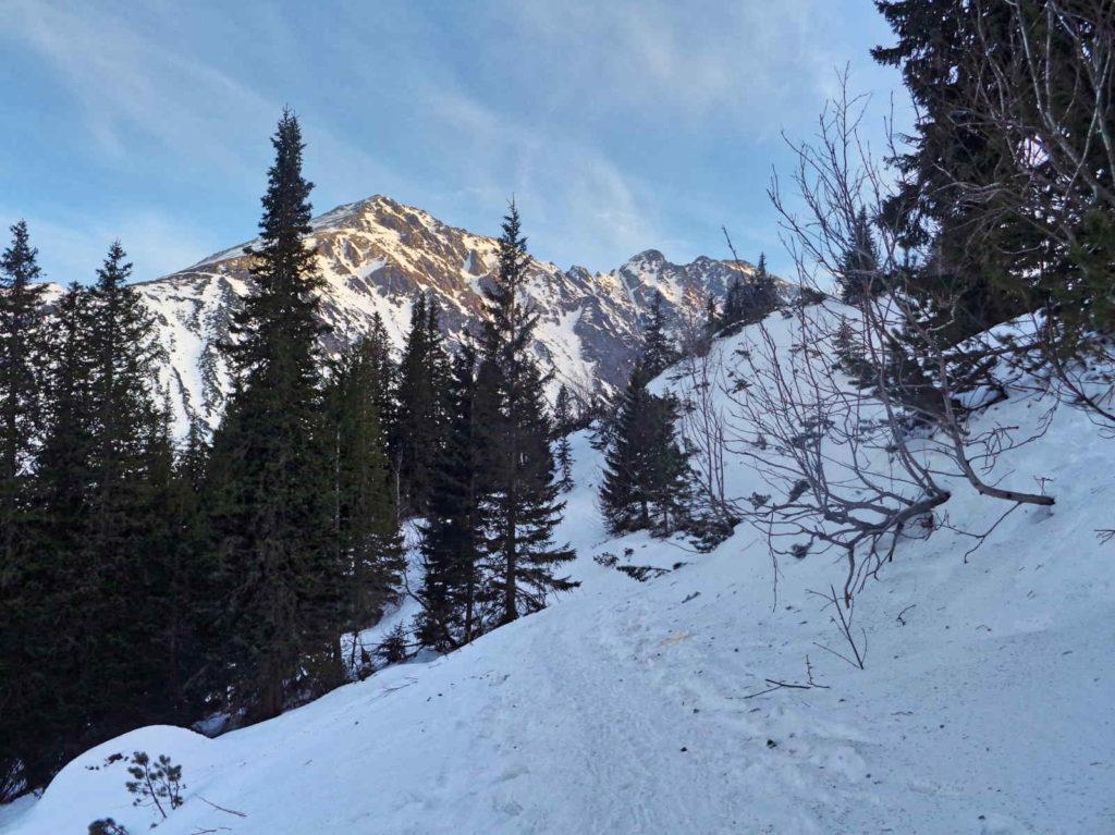 Szlak nad Czarny Staw zimą