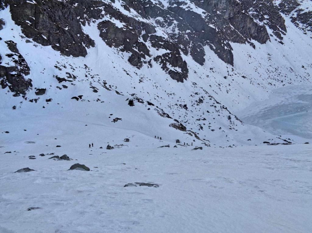 Zimowe zejście ze Skrajnego Granatu