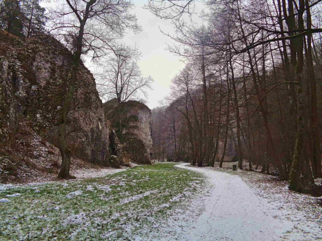 Dolina Mnikowska, szlaki turystyczne