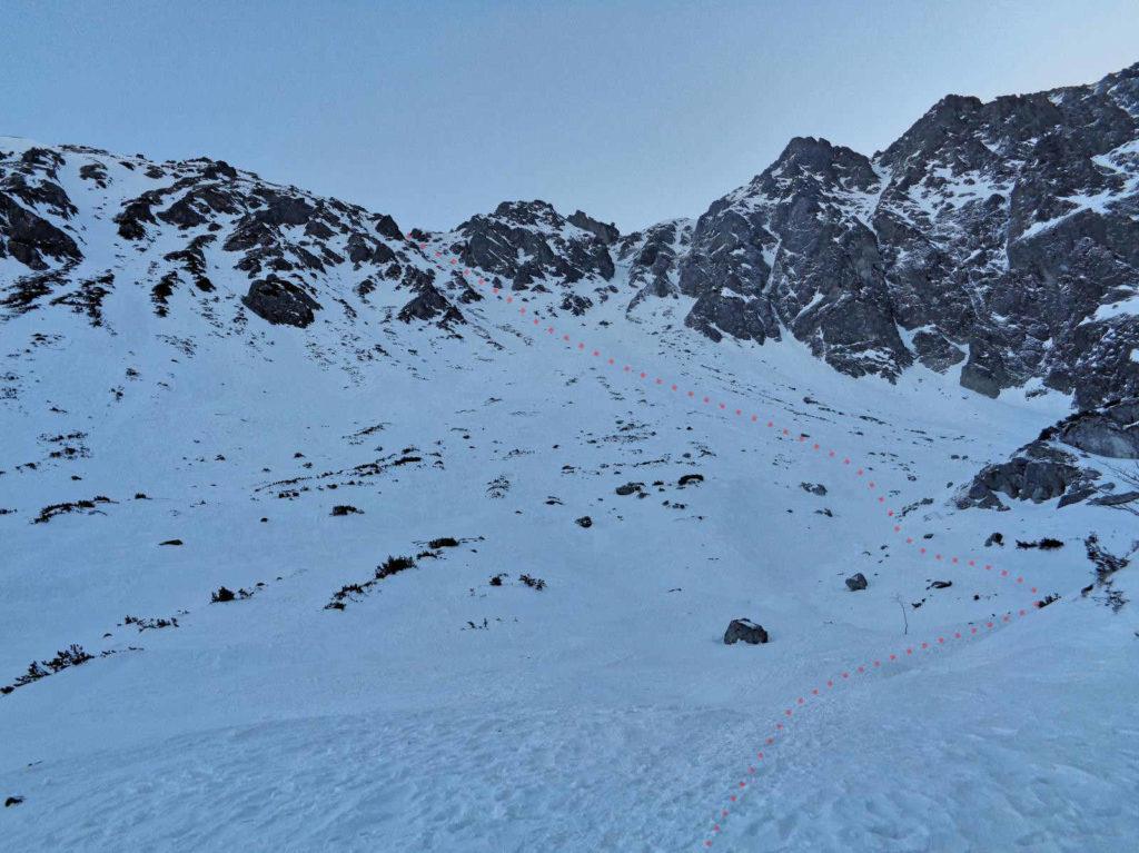 Zimowe wejście na Żółtą Przełęcz