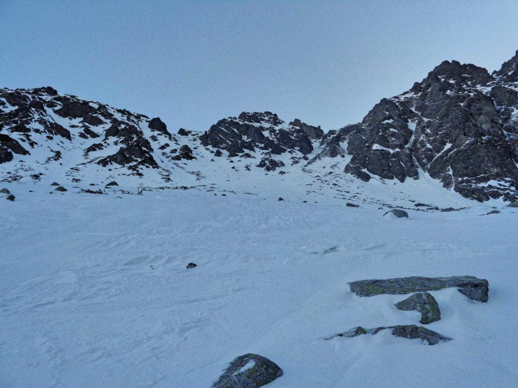 Żółta Przełęcz, droga w zimie