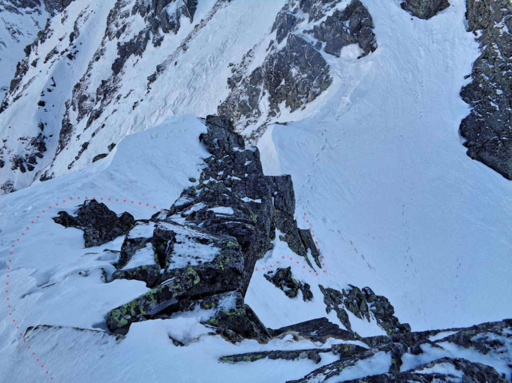Żółta Przełęcz w zimie