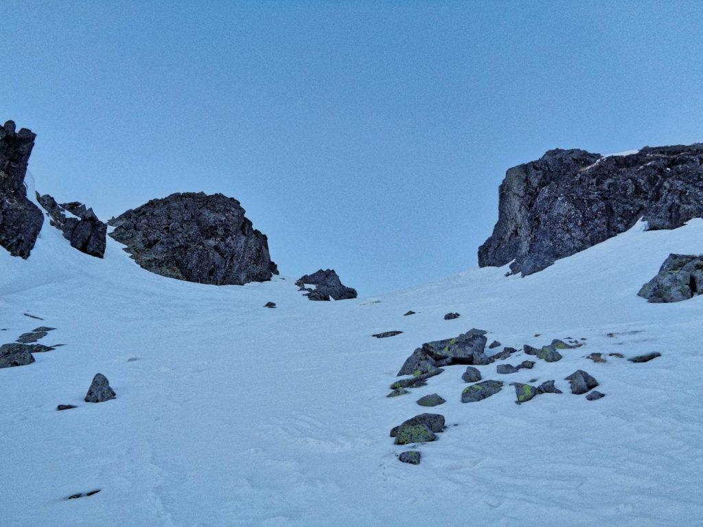 Żółta Przełęcz, wejście zimą