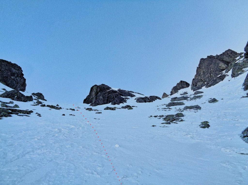 Żółta Przełęcz, wejście zimowe