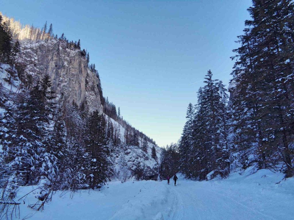Dolina Chochołowska, warunki w zimie