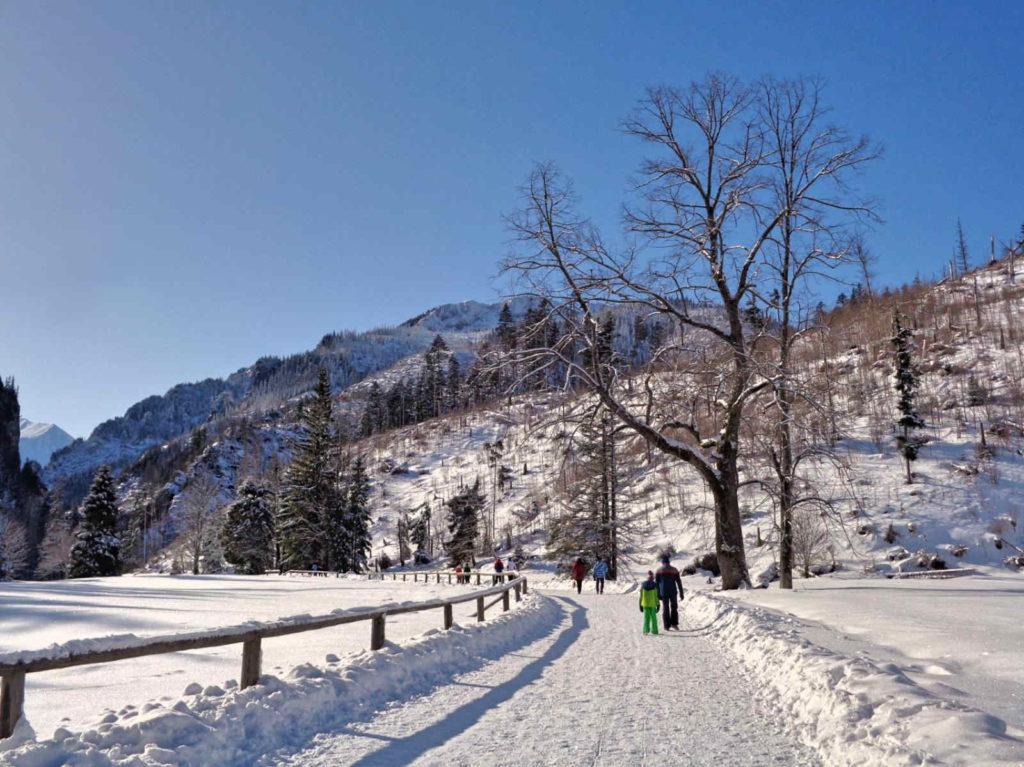 Dolina Kościeliska, przejście zimą