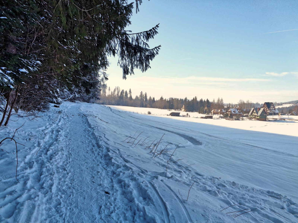 Droga pod Reglami, przejście zimą