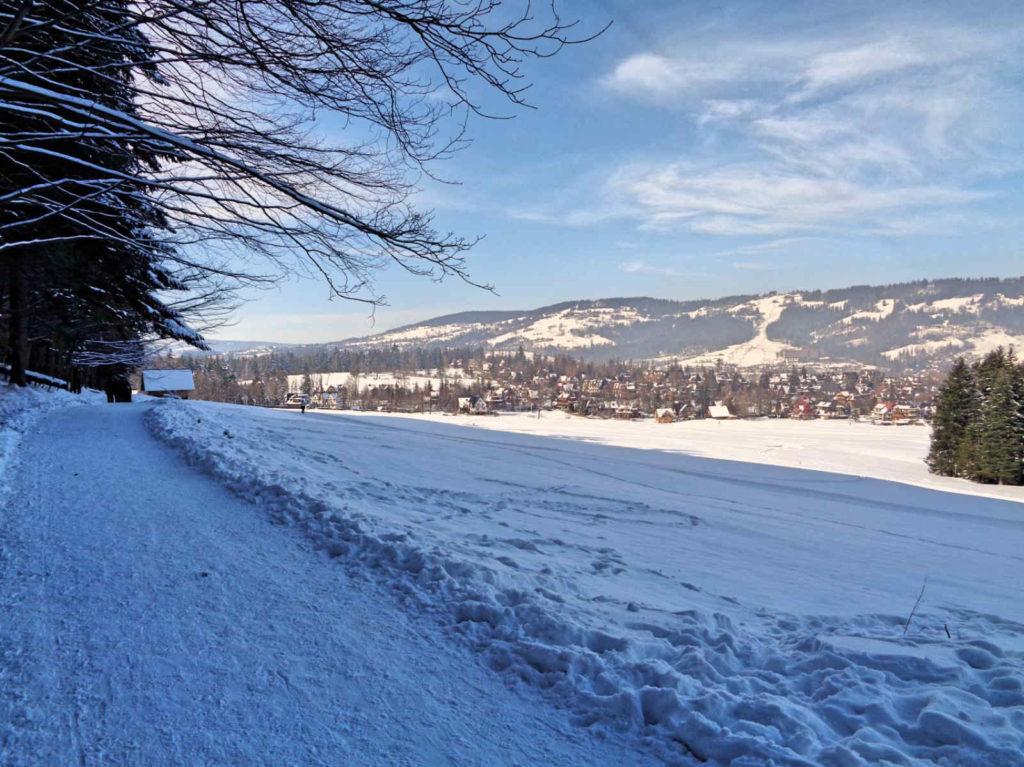 Droga pod Reglami, warunki zimowe