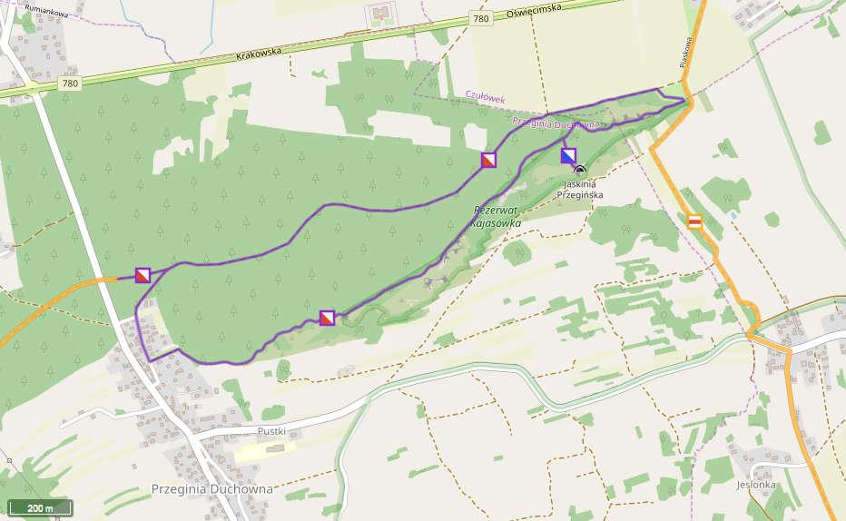Kajasówka, mapa