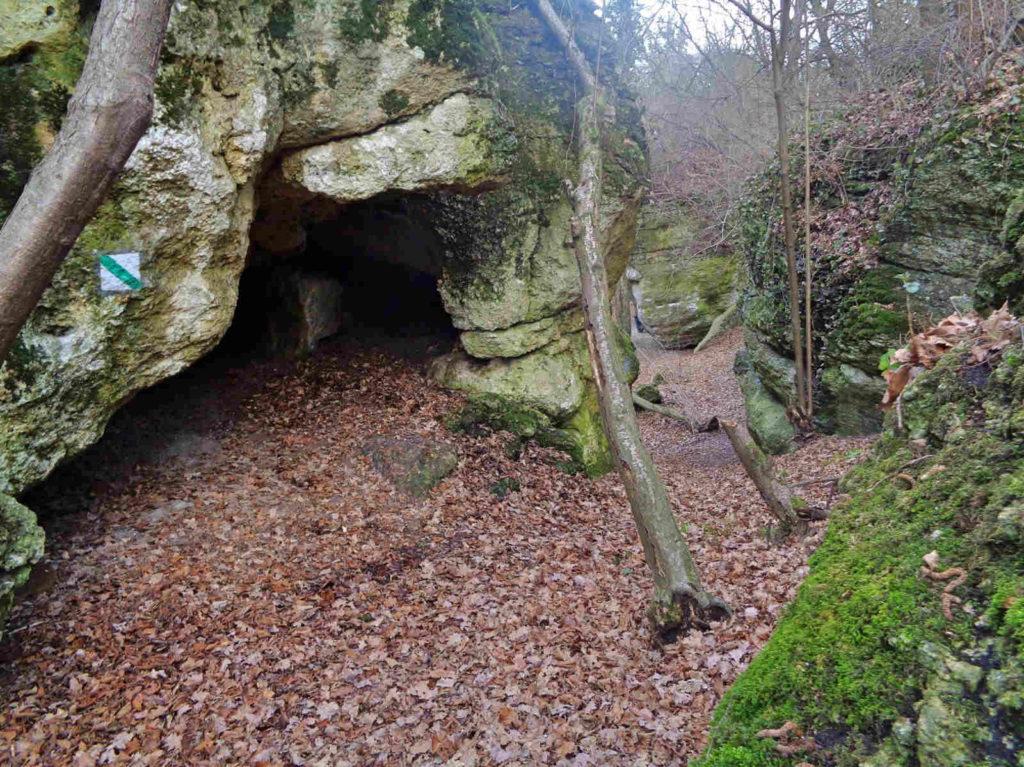Rezerwat Zimny Dół, jaskinie