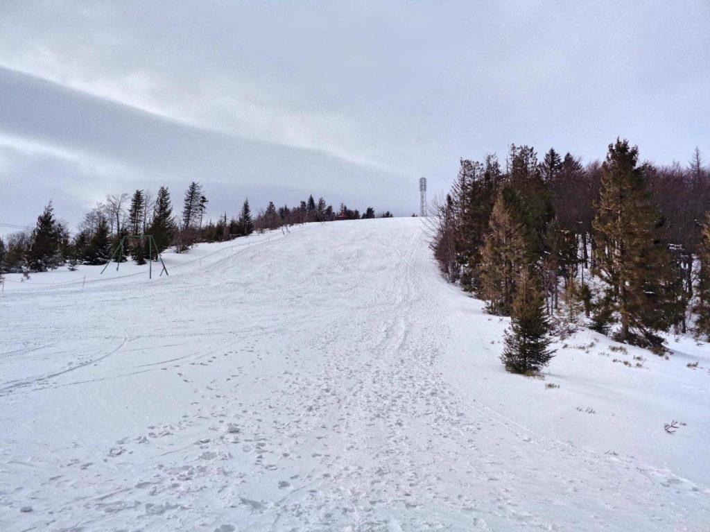 Klimczok, wejście w zimie