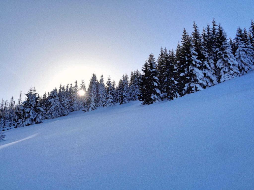 Hala Stoły zimą