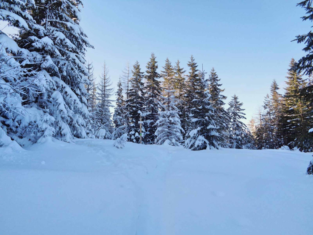 Polana na Stołach w zimie